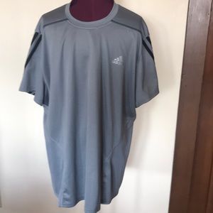 Adidas Gray Climalite Running Workout Shirt L Mens